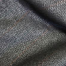 100% Wool Grey with Orange Pin Stripe Suiting Remnant 1.5m x150cm wide